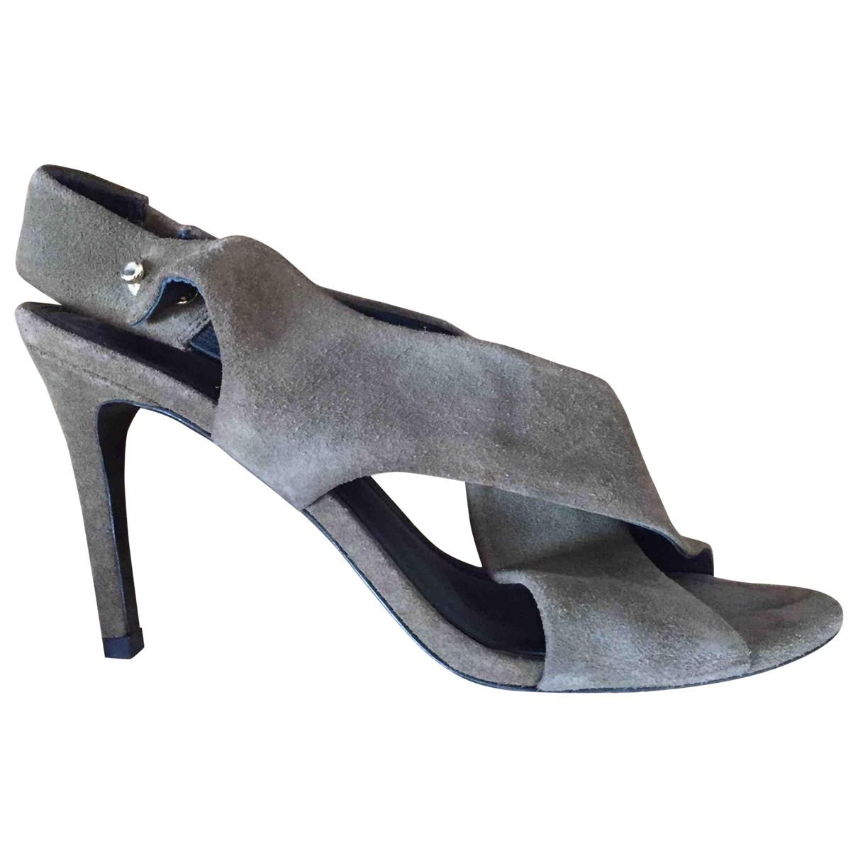Sandro \N Beige Suede Sandals for Women 37 EU