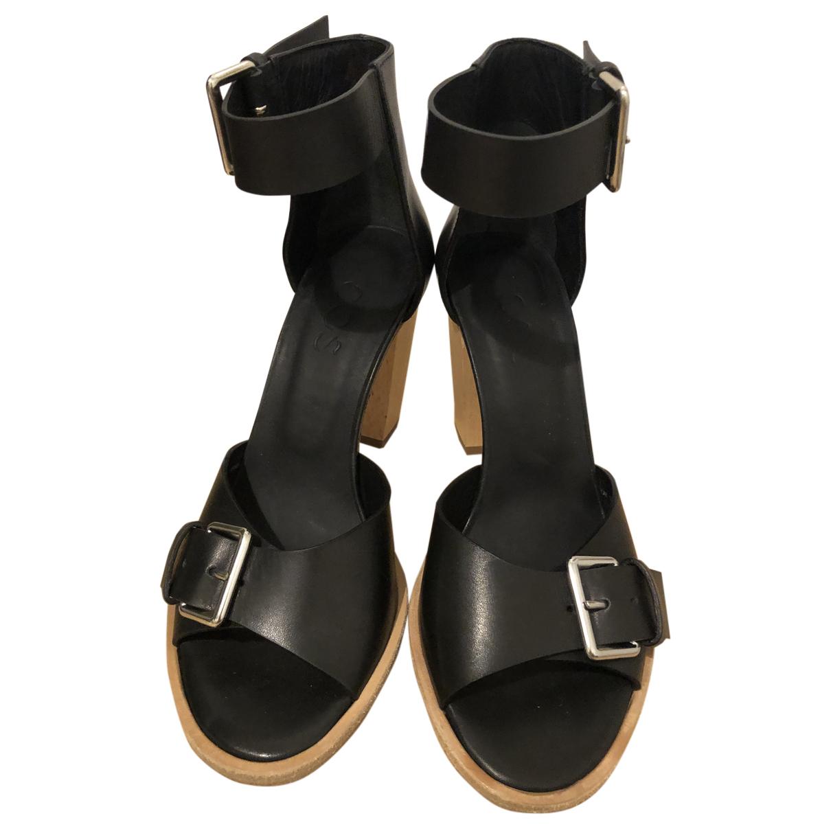 Cos \N Sandalen in  Schwarz Leder