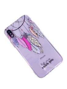 Feather Pendant Print iPhone Case