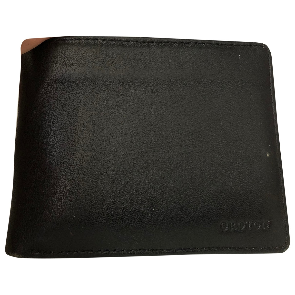 Oroton \N Black Leather Small bag, wallet & cases for Men \N