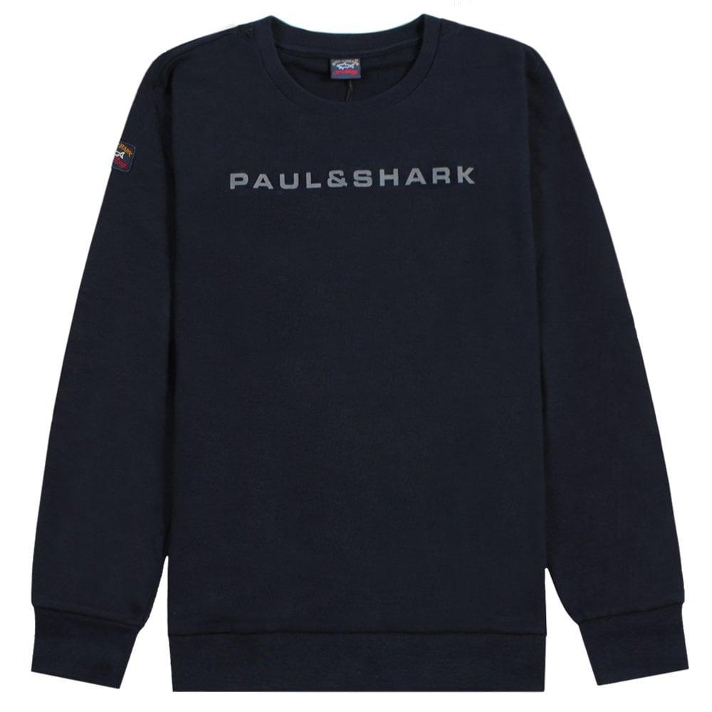 Paul & Shark Kids Logo Print Sweatshirt Navy Colour: NAVY, Size: 1