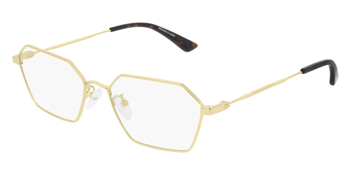 McQ MQ0231OA Asian Fit 002 Men's Glasses Gold Size 56 - Free Lenses - HSA/FSA Insurance - Blue Light Block Available