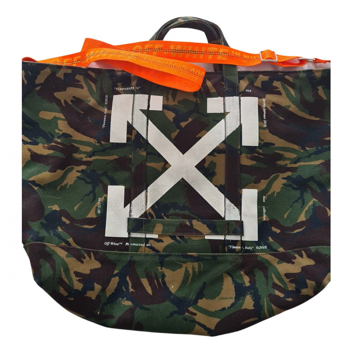 Off-white N Khaki Cotton bag for Men N