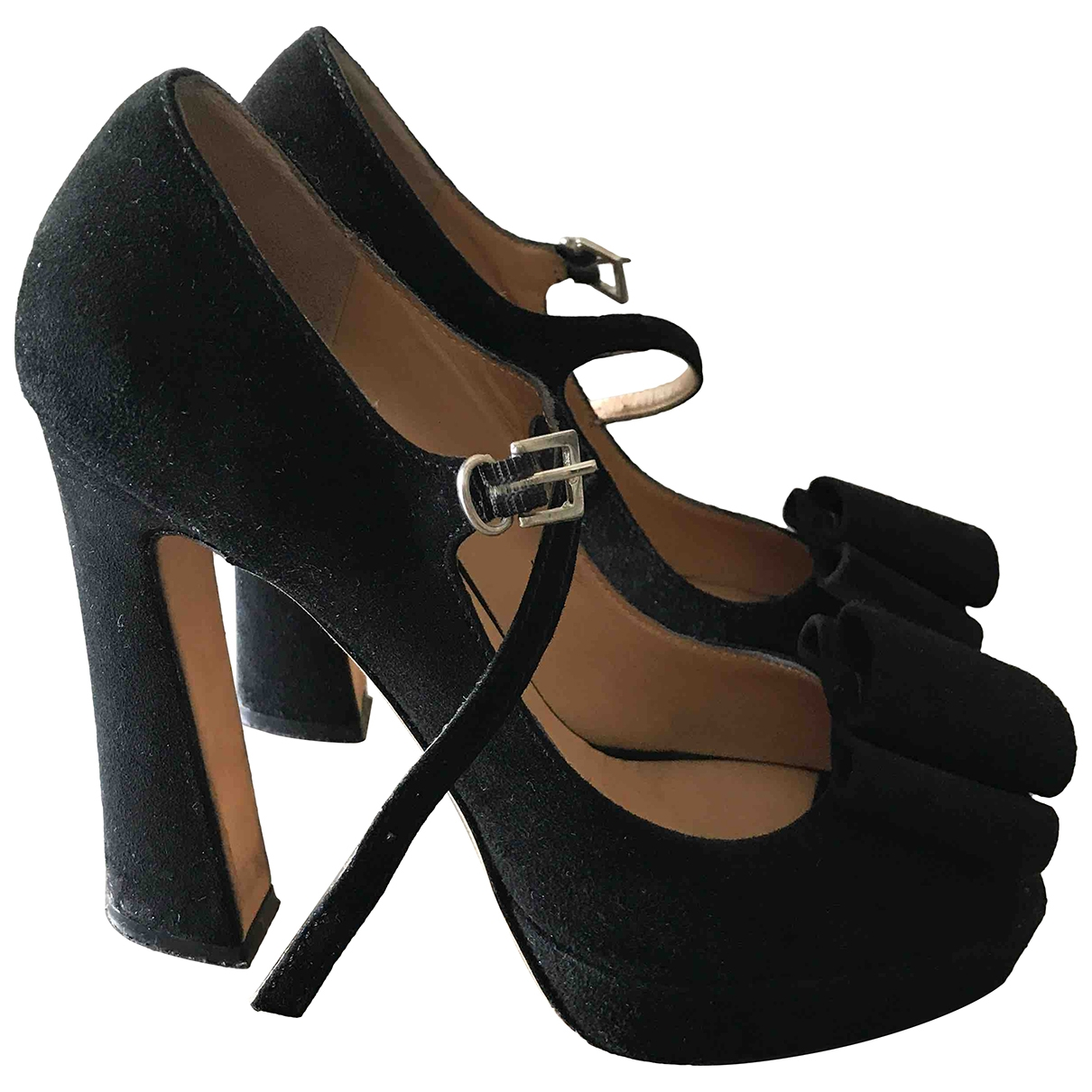 Non Signe / Unsigned \N Pumps in  Schwarz Leder