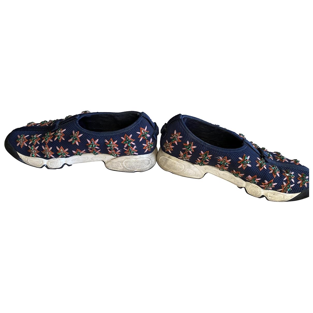 Dior Dior Fusion Sneakers in  Blau Leinen