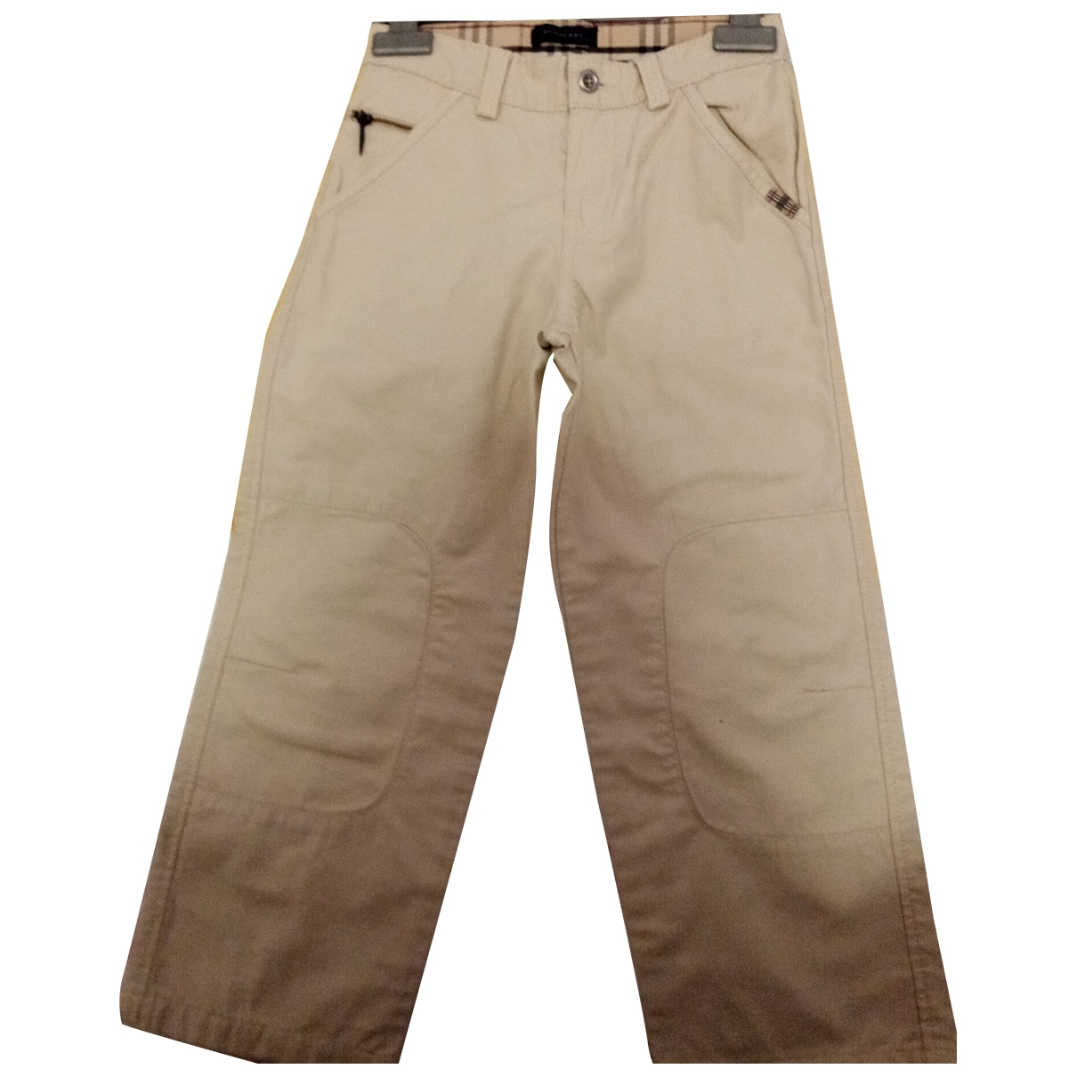 Burberry \N Beige Cotton Trousers for Kids 6 years - up to 114cm FR