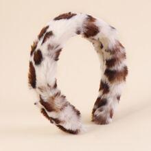 Fluffy Leopard Pattern Hair Hoop