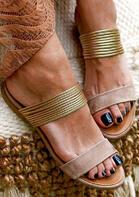 Summer Beach Flat Heel Round Toe Slippers