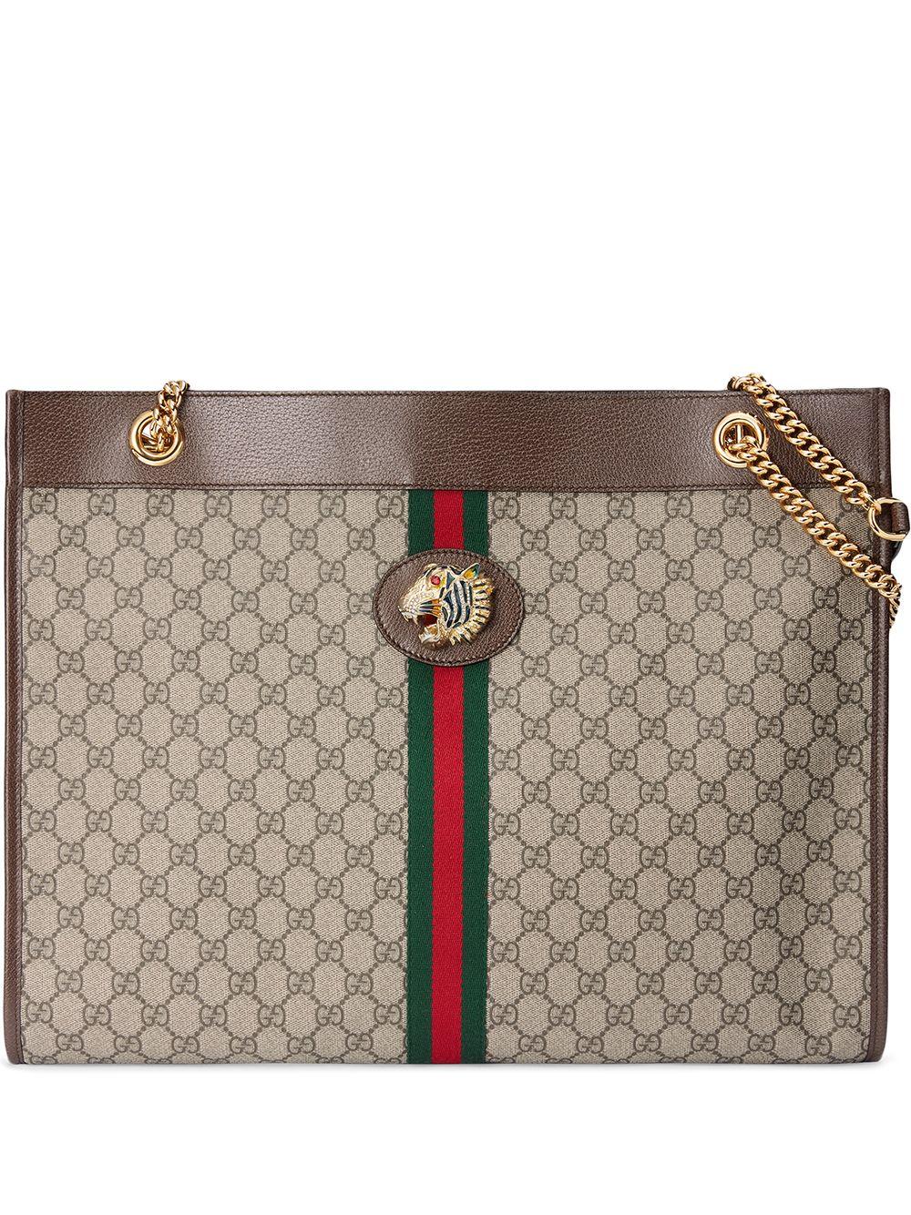 Rajah Leather Shopping Bag