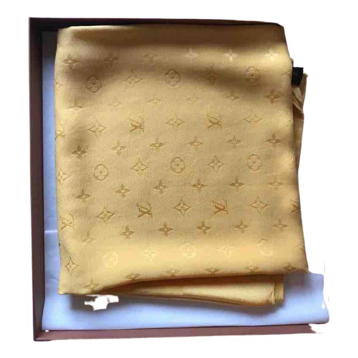 Louis Vuitton N Yellow Silk scarf for Women N
