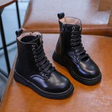 Girls Lace-up Front Wide Fit Boots
