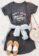 Presale - Don't Mess With Mama Mini Dress - Gray