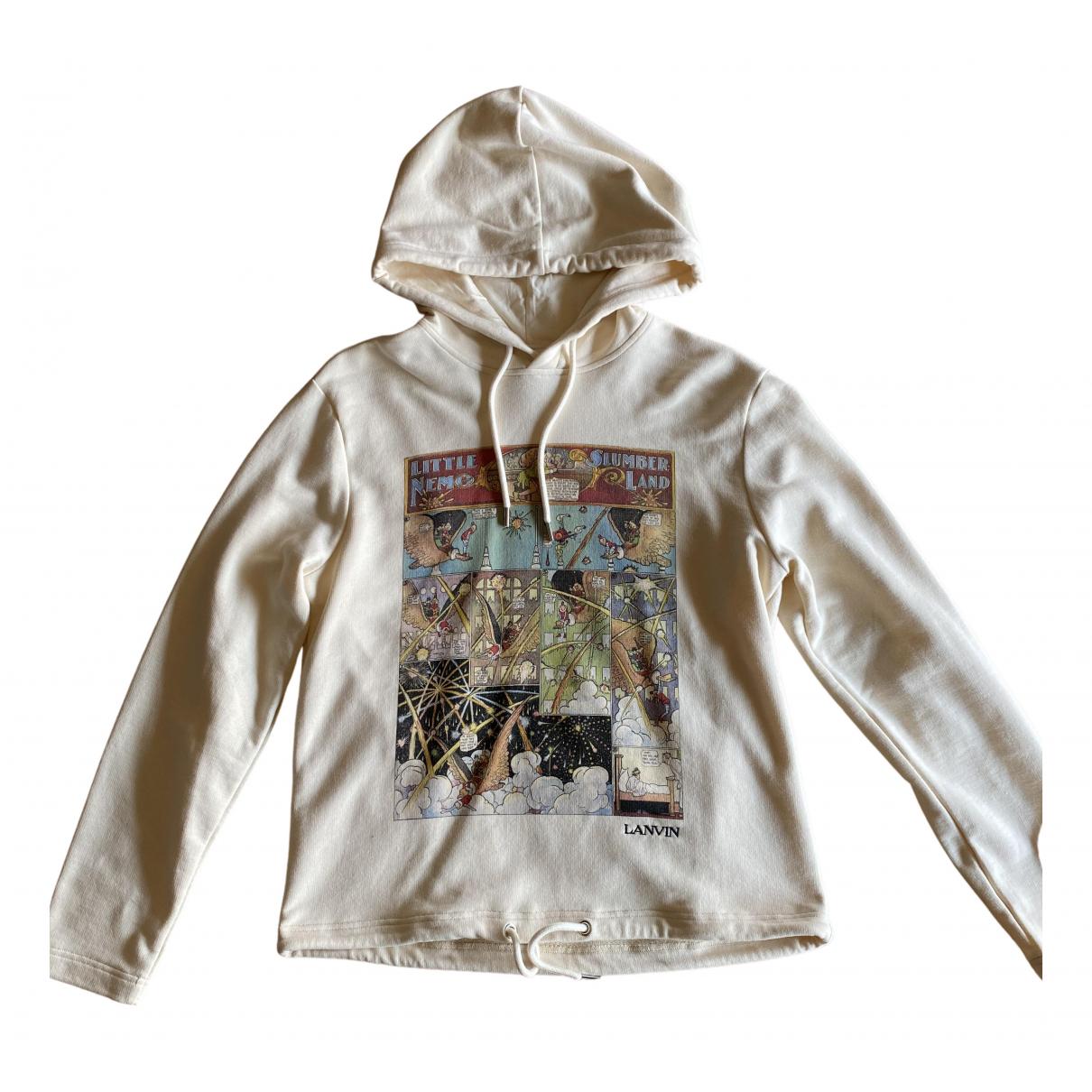 Lanvin \N Pullover.Westen.Sweatshirts  in  Beige Baumwolle
