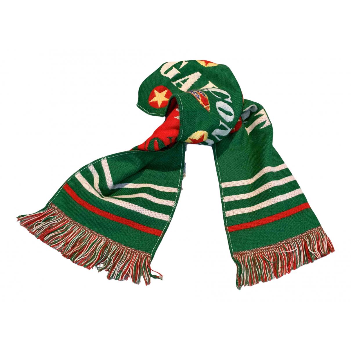 Comme Des Garcons \N Green Wool scarf & pocket squares for Men \N