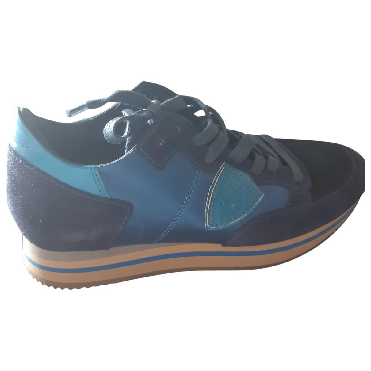 Philippe Model \N Sneakers in  Blau Polyester