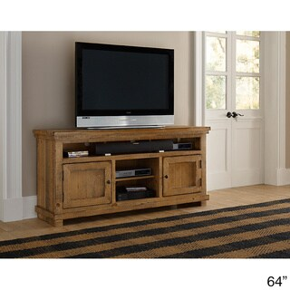Willow Distressed Solid Pine Entertainment Collection (64 inches in width)