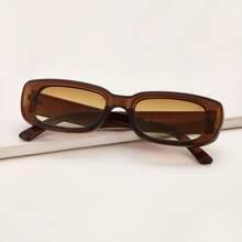 Gafas de sol rectangulas de marco acrilico