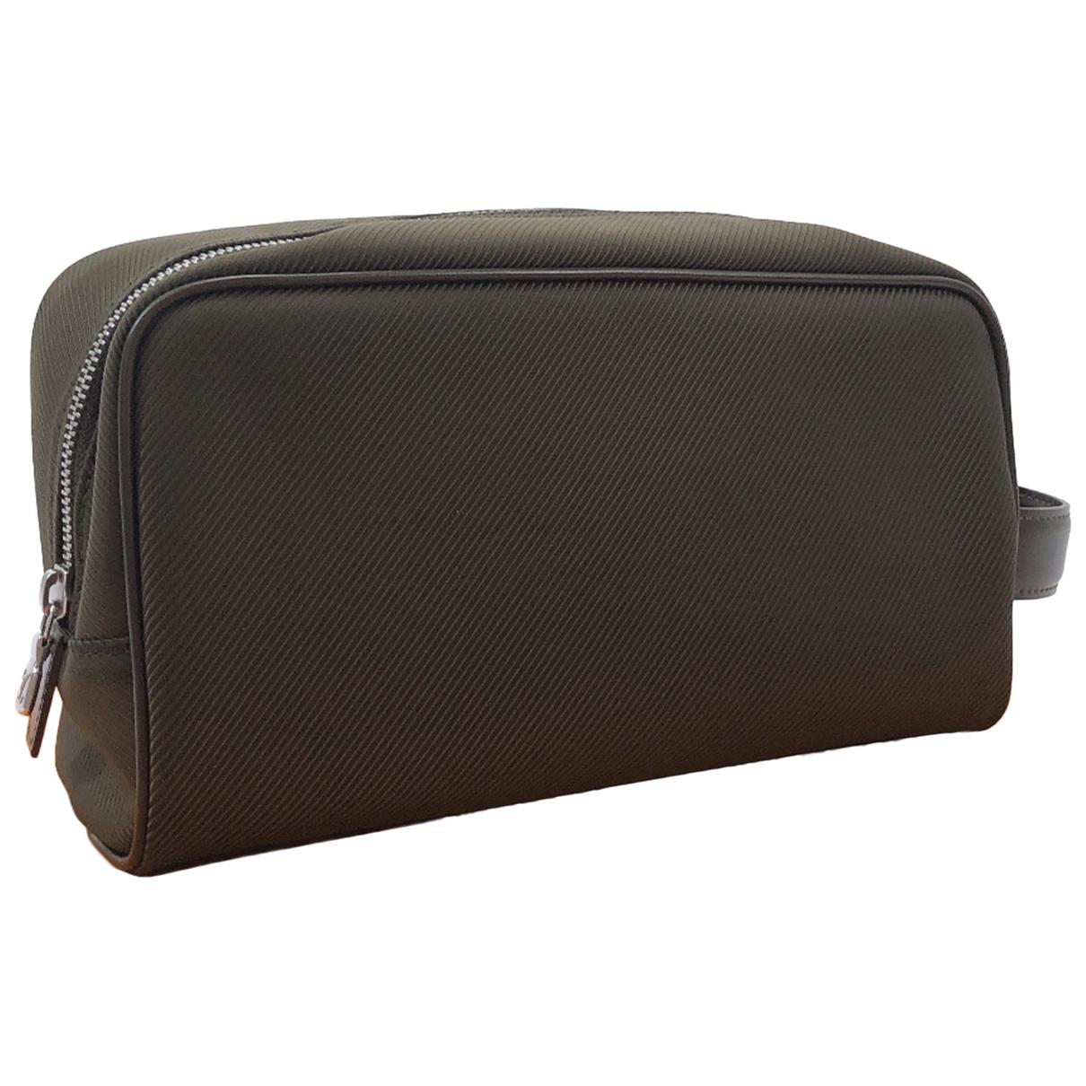 Louis Vuitton N Khaki Leather bag for Men N