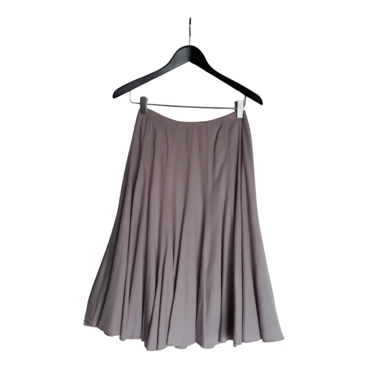 Dries Van Noten - Jupe   pour femme en laine - gris