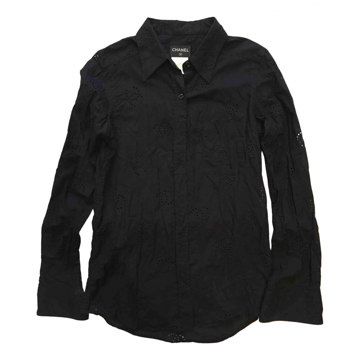 Chanel \N Black Cotton  top for Women 40 IT