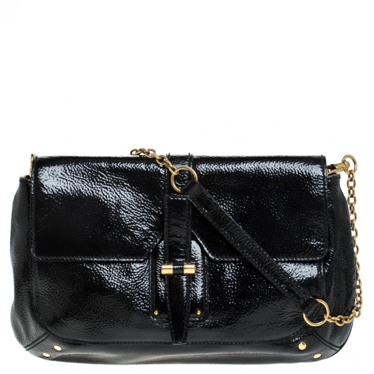 Saint Laurent \N Black Patent leather handbag for Women \N