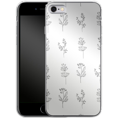 Apple iPhone 6s Silikon Handyhuelle - Botanic Studies von Lucy Bohr