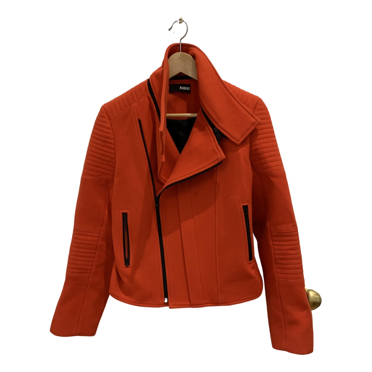 Nicholas \N Red Wool jacket for Women 10 UK