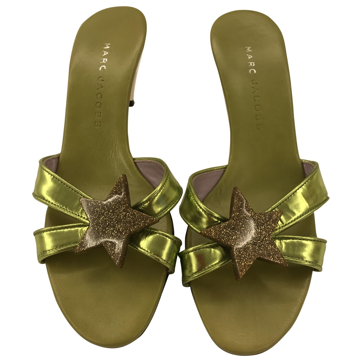Marc Jacobs \N Green Leather Sandals for Women 36 EU