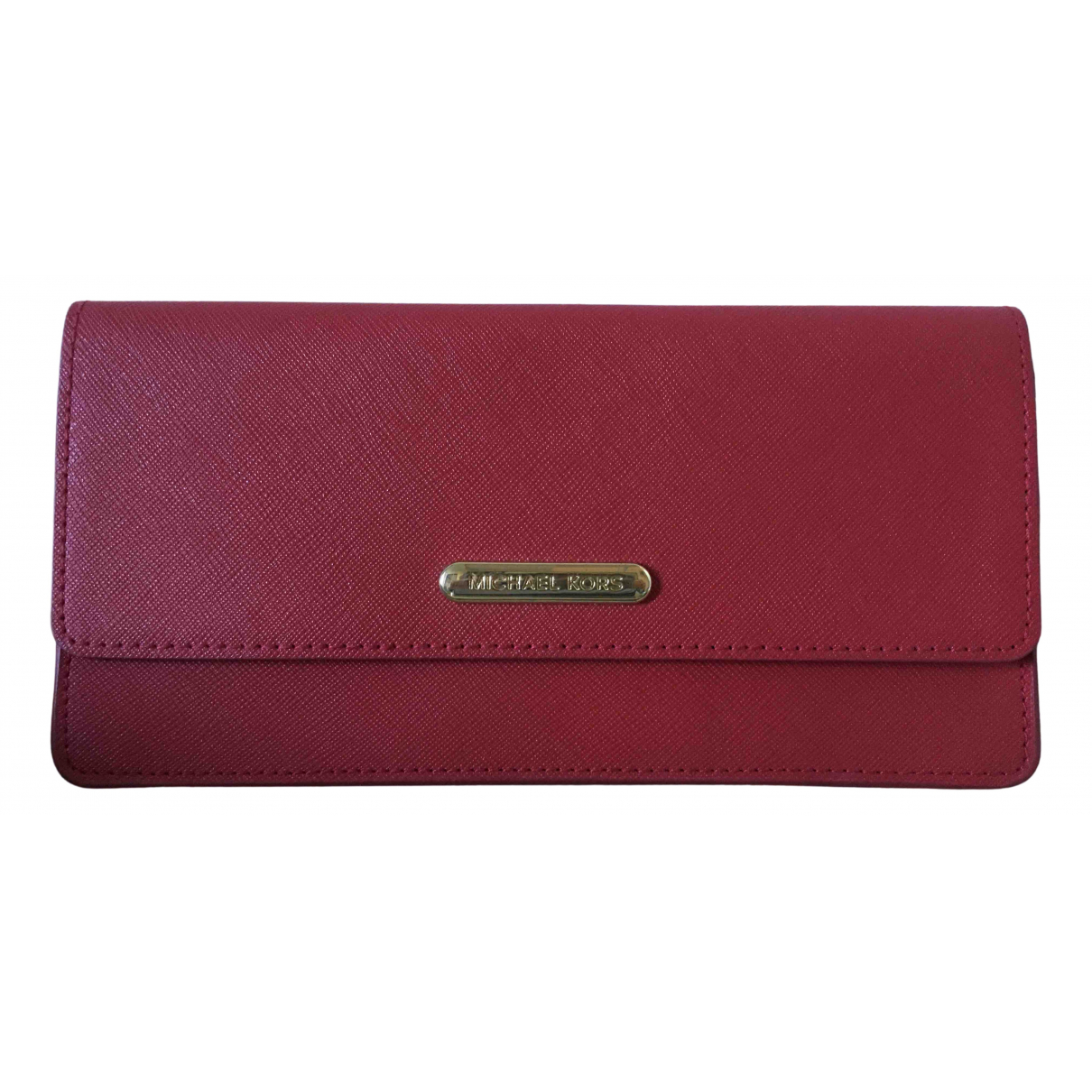 Michael Kors N Red Leather Clutch bag for Women N
