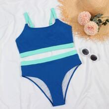 Bañador bikini lateral en contraste de canale