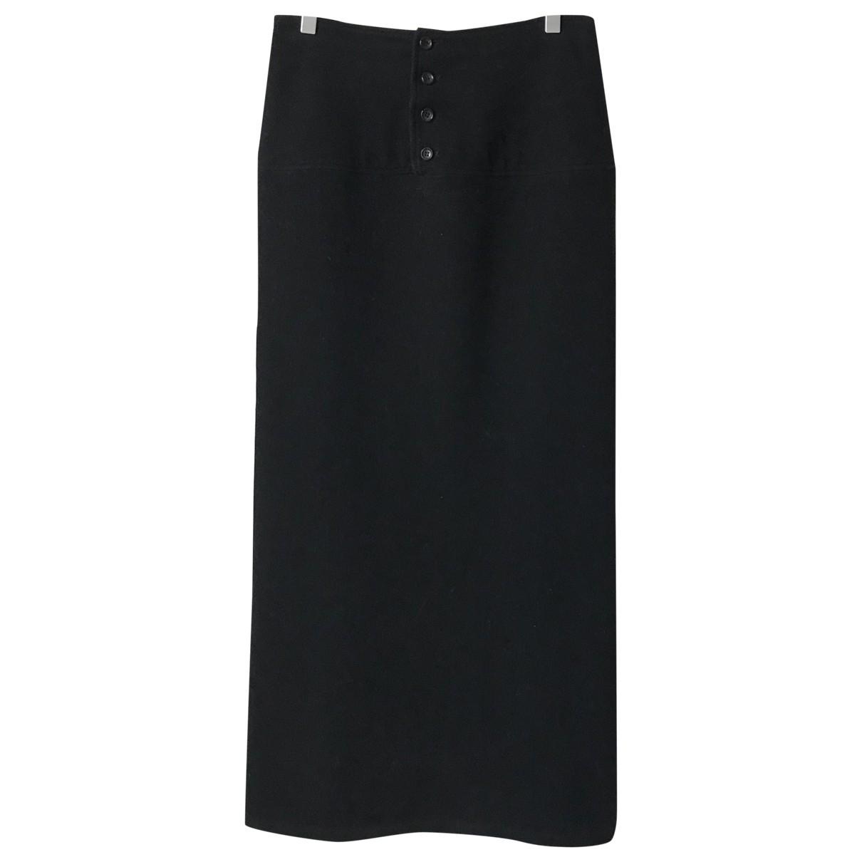 Yohji Yamamoto - Jupe   pour femme en laine - noir