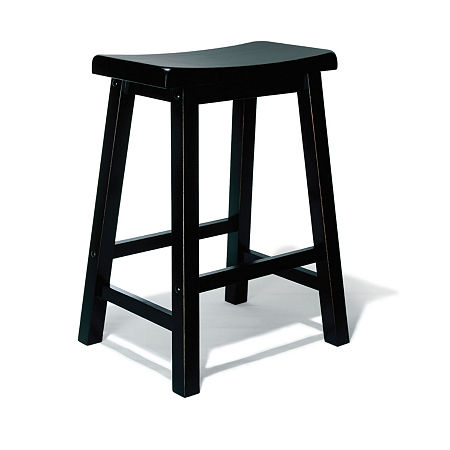 Antique Black Bar Stool, One Size , Black