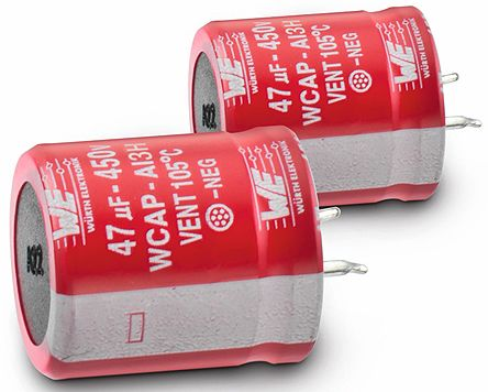 Wurth Elektronik 220μF Electrolytic Capacitor 450V dc, Through Hole - 861141484013 (2)