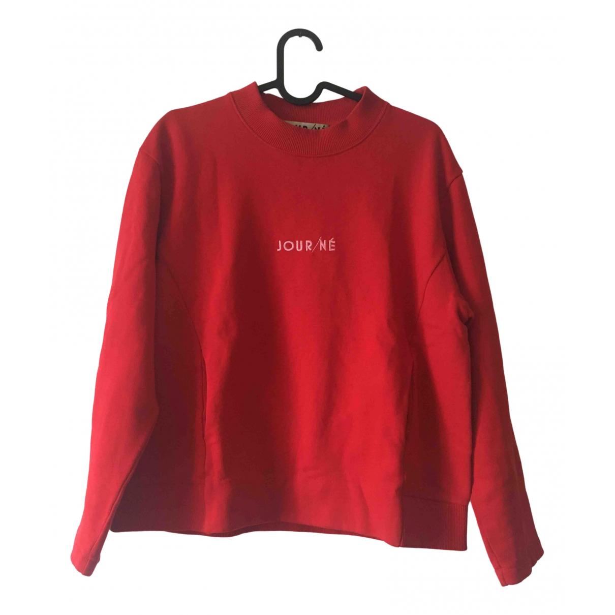 Jour/ne - Pull   pour femme en coton - rouge