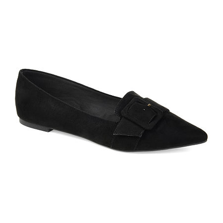 Journee Collection Womens Audrey Slip-on Pointed Toe Loafers, 9 Medium, Black
