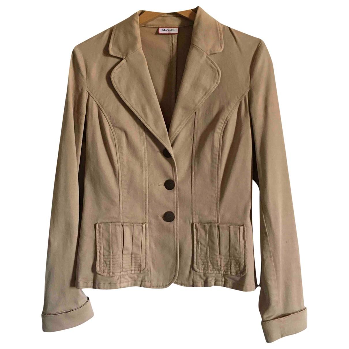 Max & Co \N Beige Cotton jacket for Women 42 IT