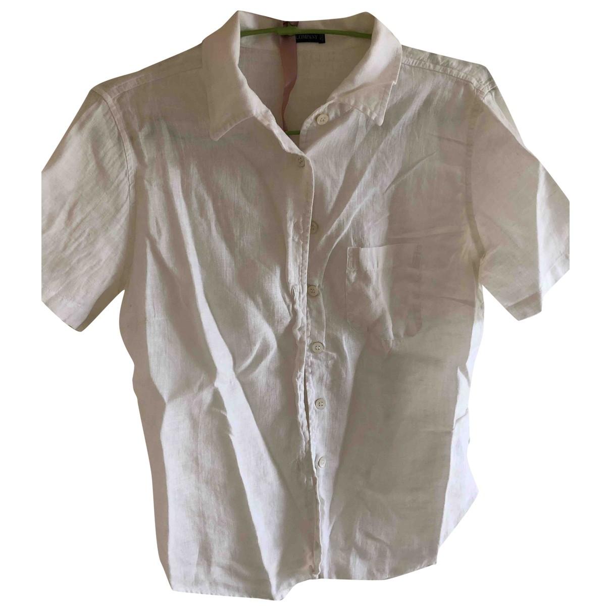 Cp Company - Top   pour femme en lin - blanc