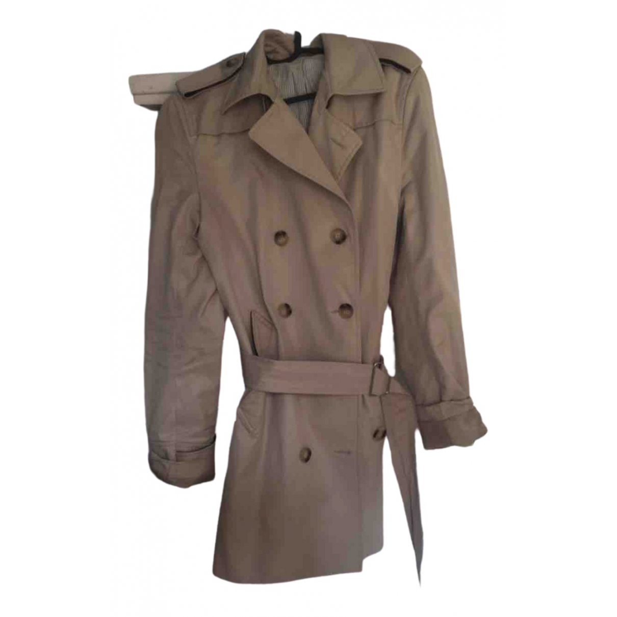 Sandro \N Trench in  Beige Synthetik