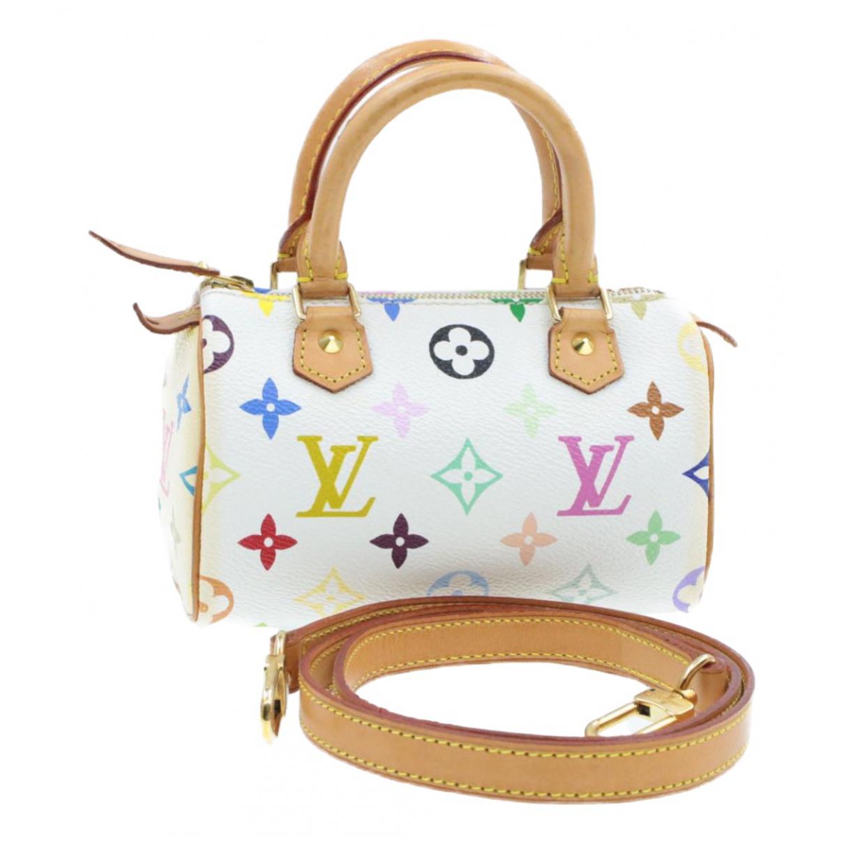 Louis Vuitton Nano Speedy / Mini HL White Cloth handbag for Women N