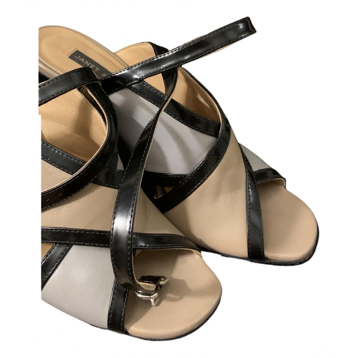 Janet & Janet \N Beige Leather Sandals for Women 37 EU
