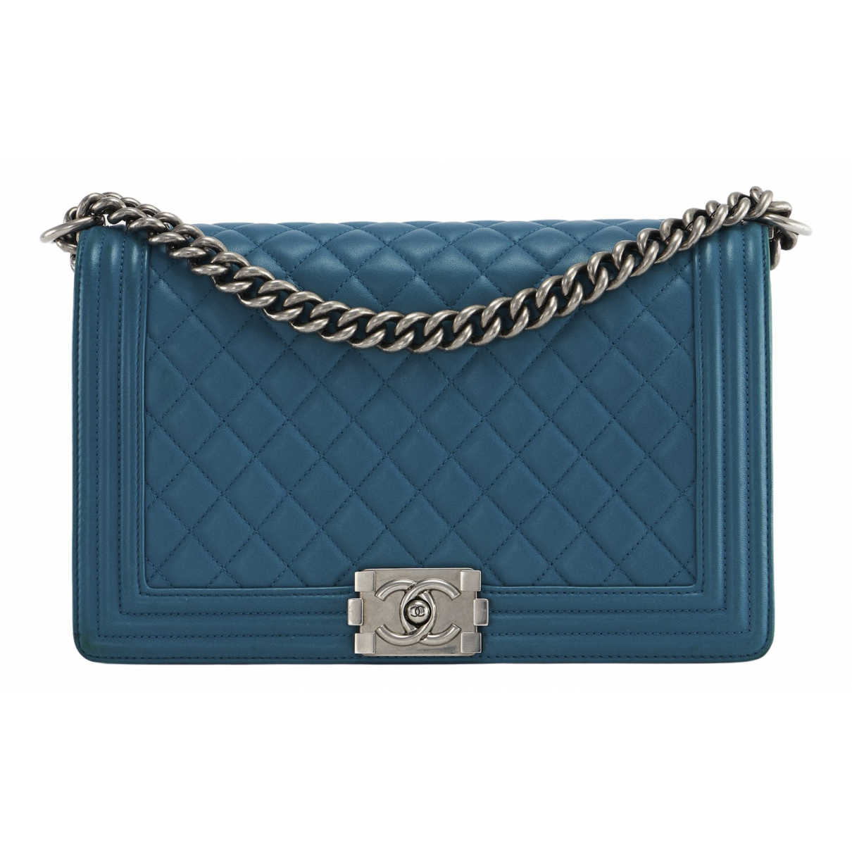 Chanel Boy Blue Leather handbag for Women \N