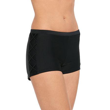 Splashletics Swim Shorts Swimsuit Bottom, Small , Black