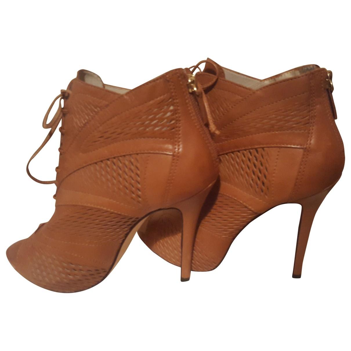 Lk Bennett - Boots   pour femme en cuir - marron