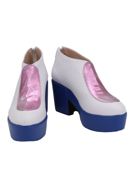 Milanoo Jojos Bizarre Adventure Stone Ocean Narciso Anasui White Cosplay Shoes