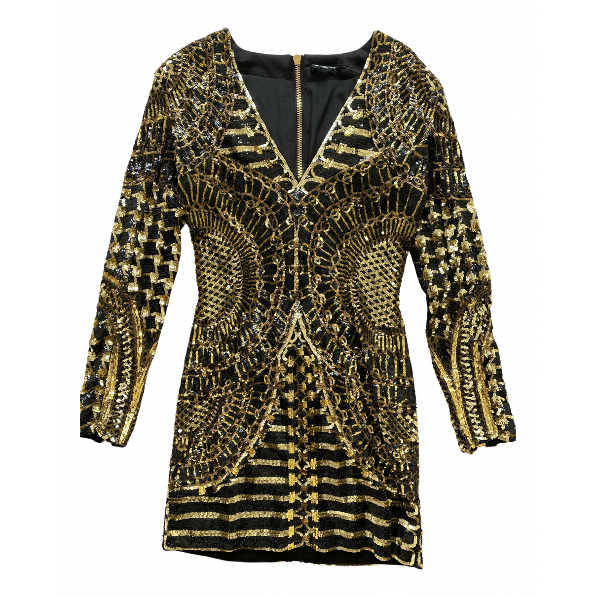 Balmain \N Kleid in  Gold Mit Pailletten
