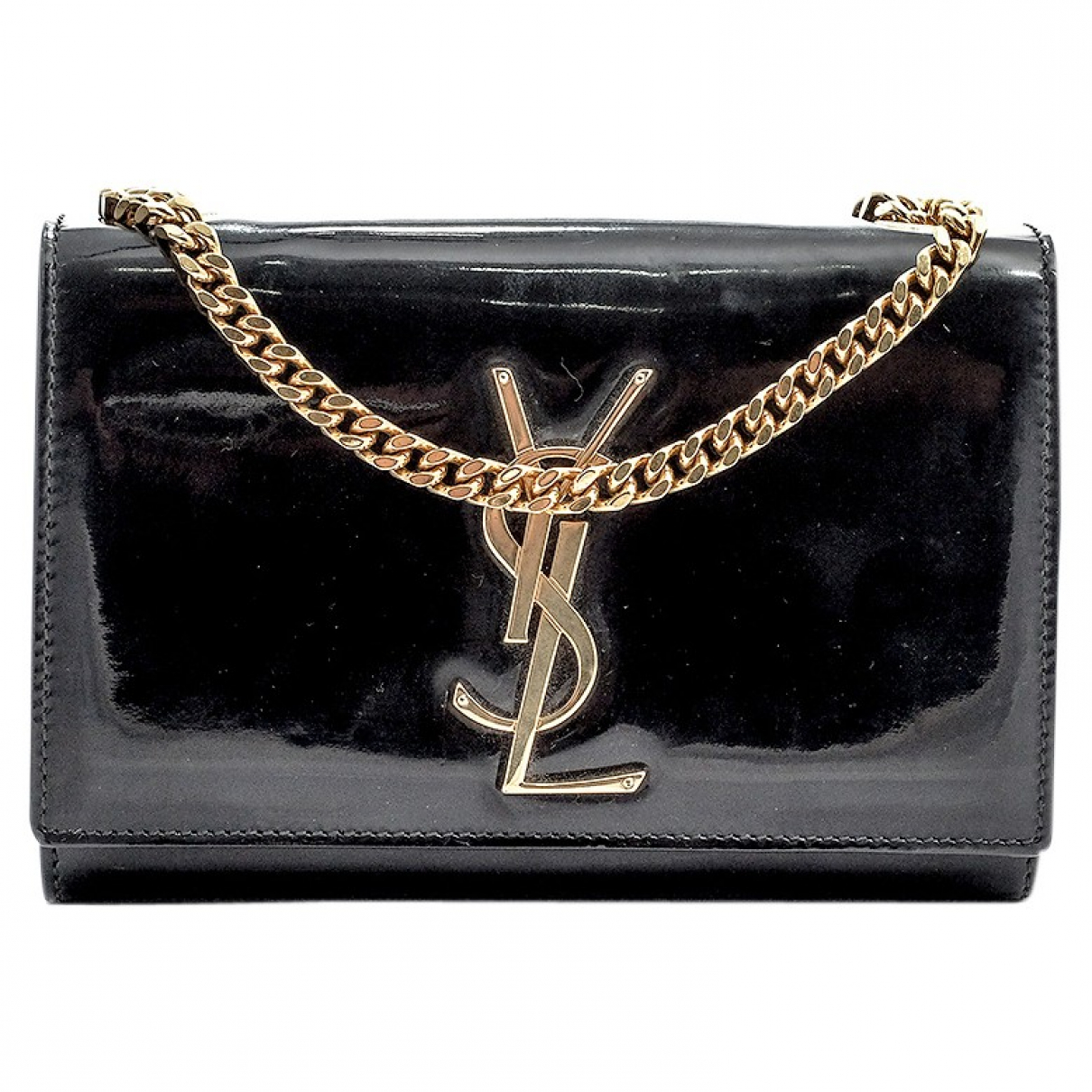 Saint Laurent Kate monogramme Black Patent leather handbag for Women \N