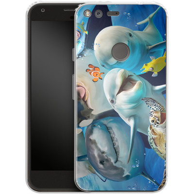 Google Pixel Silikon Handyhuelle - Ocean Selfie von Howard Robinson