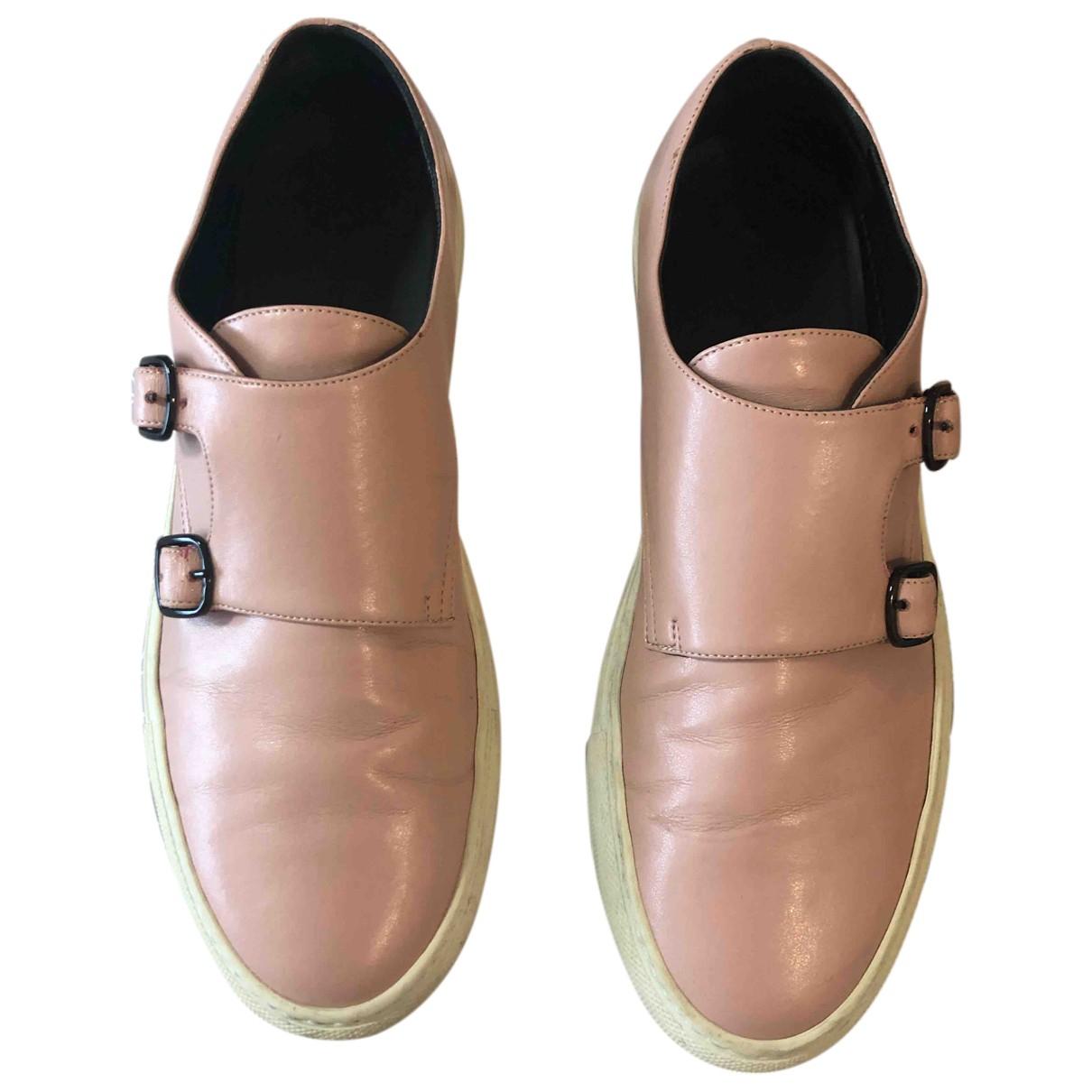 Cedric Charlier \N Sneakers in  Rosa Leder