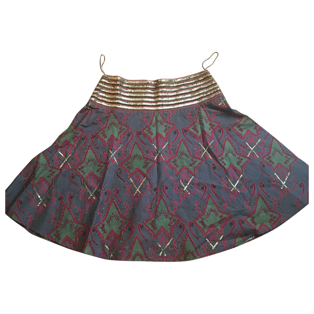 Non Signé / Unsigned \N Multicolour Cotton skirt for Women L International