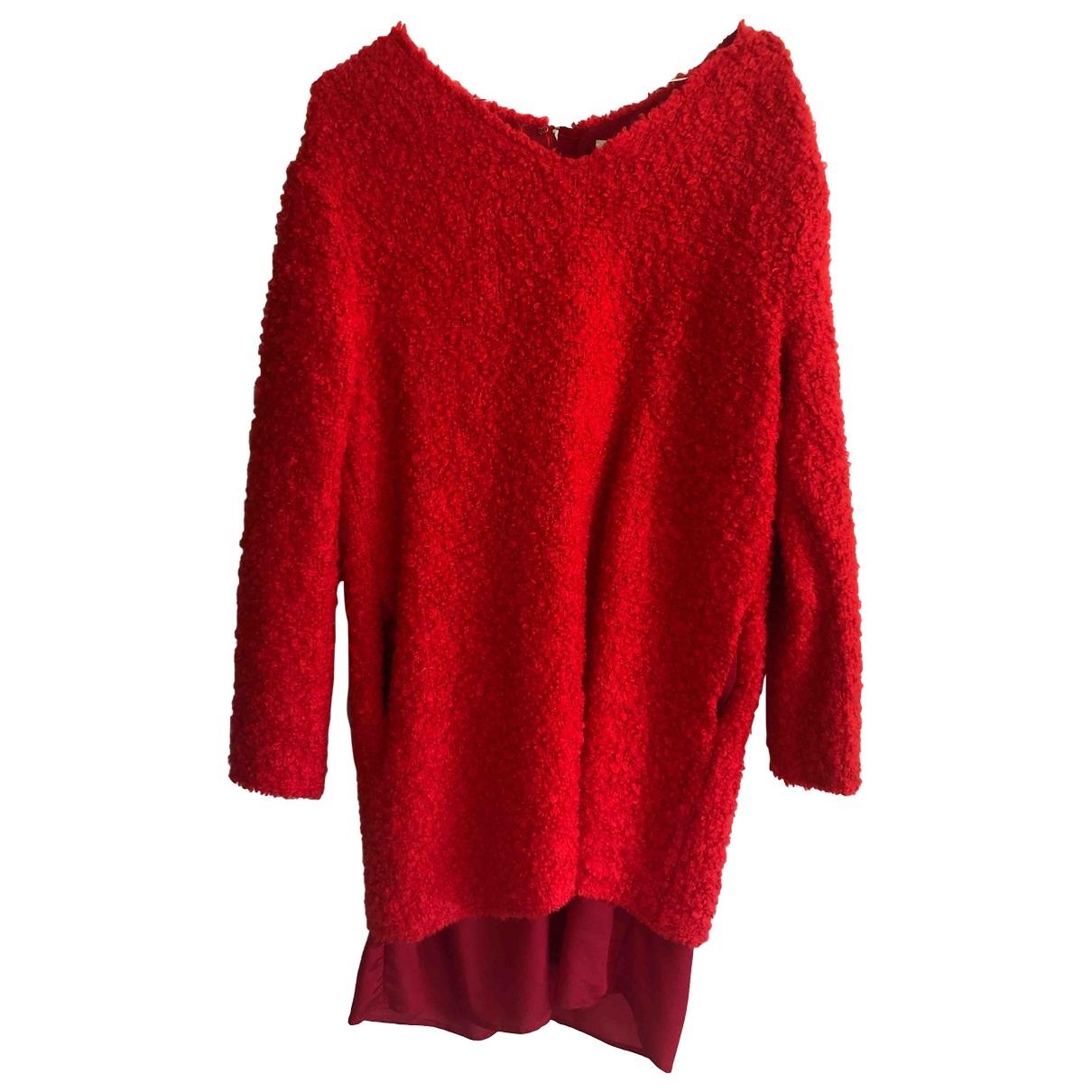 Acne Studios - Robe   pour femme en laine - rouge